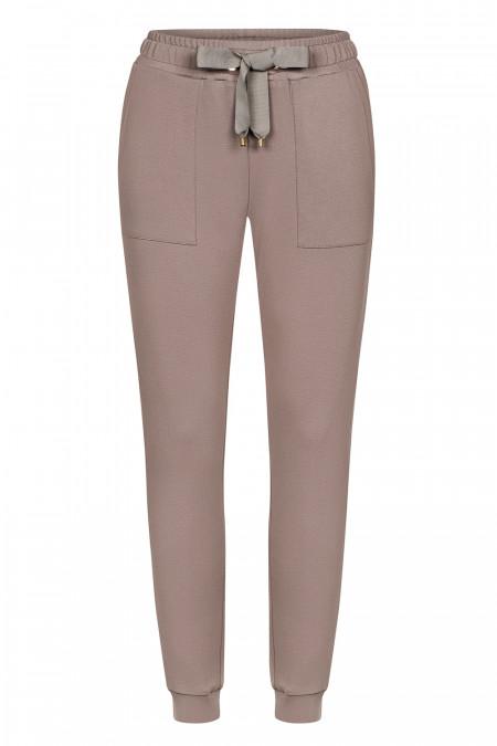Spodnie Comfty Coffee - Spodnie dresowe kawowe
