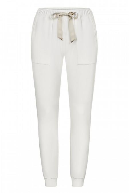 Spodnie Comfty Ecru - Spodnie dresowe ecru