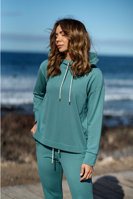 Bluza Basic Green Lagoon